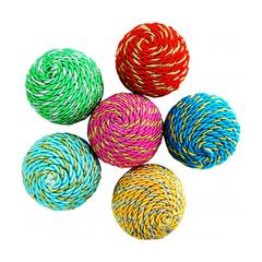 Уют игрушка для кошек Мяч-погремушка нейлон с люрексом 5 см