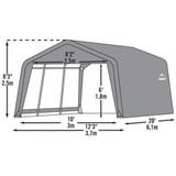 Гараж тентовый ShelterLogic 3,7x6,1x2,5 м