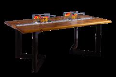 Стол c двумя биокаминами Firetable Julia Big 2000MS