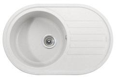 Мойка Kaiser (Кайзер) KGM-7750-W White для кухни из искусственного камня, круглая (овальная)