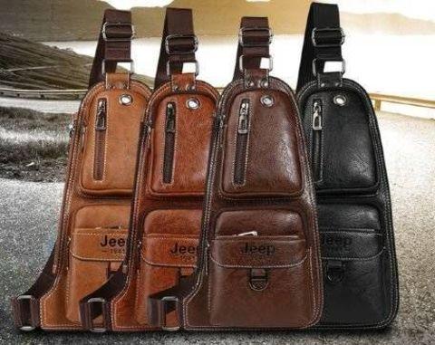 2a18787f4d57 Мужская сумка-рюкзак Jeep Buluo 1941 через плечо кожаная ✅ купить ...