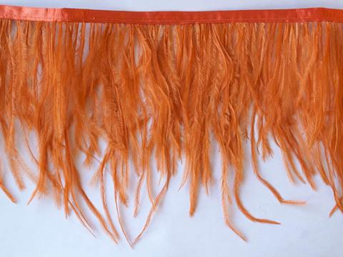 Тесьма  из перьев страуса h 10-15 см., терракот