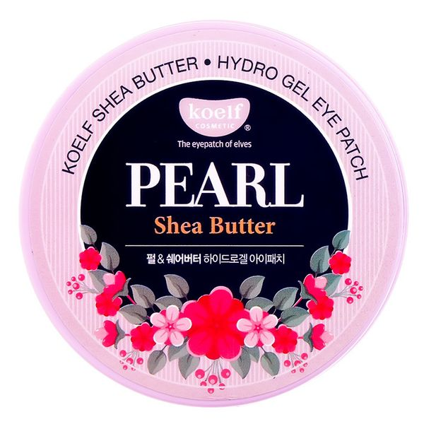 Гидрогелевые патчи для век с экстрактом жемчуга и маслом Ши PETITFEE Koelf Pearl and Shea Butter Eye Patch, 60 шт