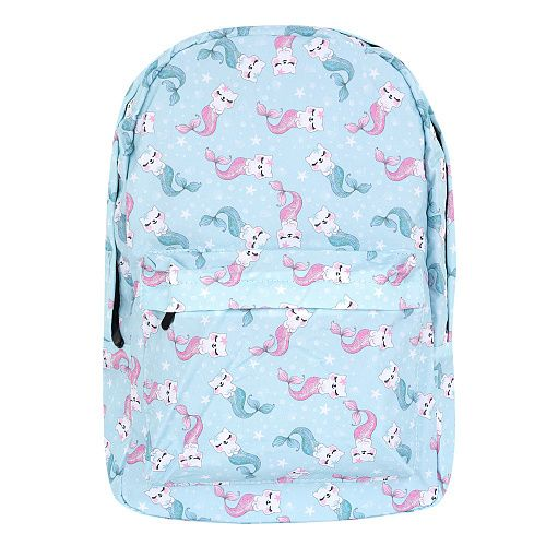 Рюкзак Kawaii Factory «Mermaid cats», light blue