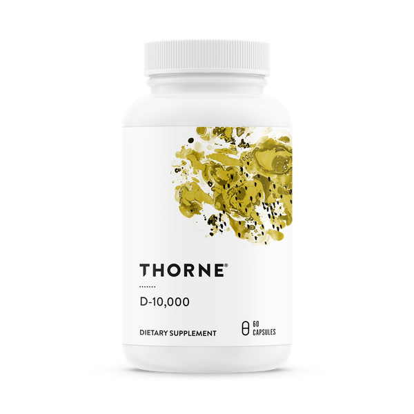 Vitamin D-10,000, Thorne Research, 60 капсул